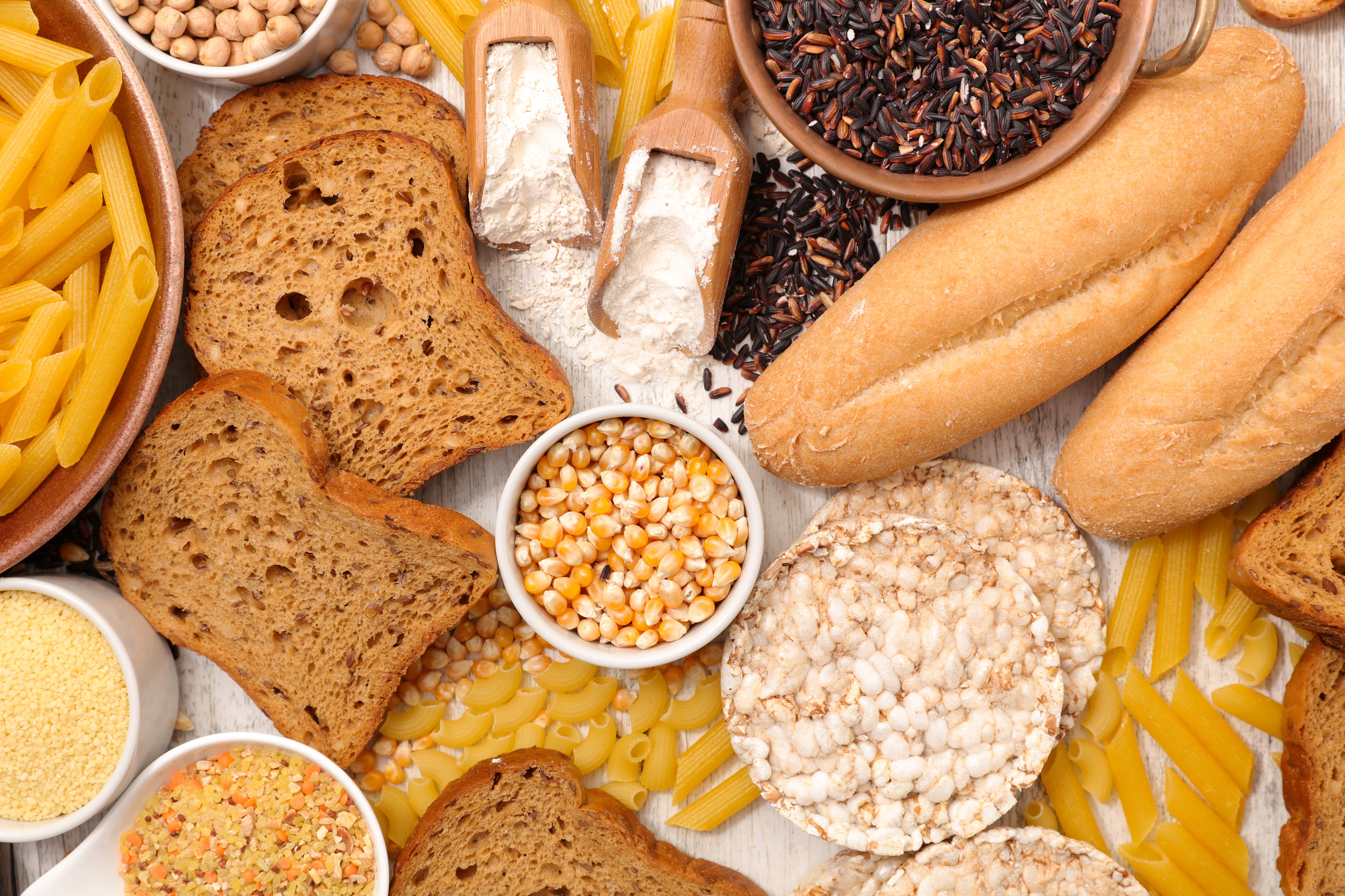 a selection of gluten free foods